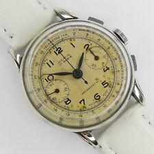 OLMA Vintage Schweizer  Chronograph Edelstahl aus den 1940/1950er Jahren selten!