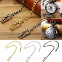 Stainless Steel New Single Albert Pocket Watch Chain Retro Style 3 Colors