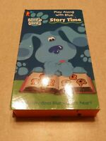 Blue's Clues Story Time VHS 1998 Nickelodeon Nick Jr. Nicktoons Orange Tape