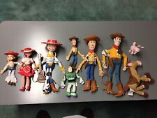 Working Talking Woody And Jessie Dolls Pull String Plus 7 Other Dolls