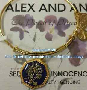 Alex and Ani Seduced By Innocence Violet Bangle Yellow Gold - Discontinued/Rare