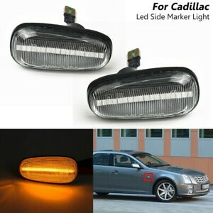 ABS+PC Side Marker Light Amber Easy Installation For Cadillac STS STS-V