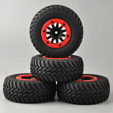 4Pcs Bead-Lock Wheel&Tires For TRAXXAS Slash Car Set 1:10 Short Course Truck #04
