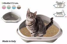 PINK PET cat TOILET INNOVATIVE LITTER TRAY SHUTTLE FOR CORNER 49CM COLOURS