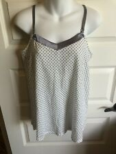 Motherhood Maternity Small Nursing Camisole White Gray Polka Dot