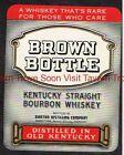 1940s Kentucky Bardstown Barton Brown Bottle Straight Bourbon Whiskey Label