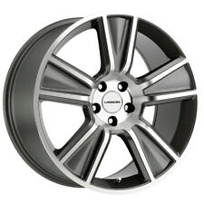 "4-Vision V223 Stunner 22x9.5 5x5.5"" +8mm Gunmetal/Machined Wheels Rims 22"" Inch"