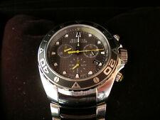 Bulova Accutron Curacao Black Dial Chronograph Two-tone Steel Men's model 65B138