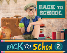 BTS2 Back to School Digital Backgrounds Backdrops Template Children Props Frame