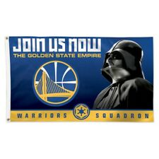 GOLDEN STATE WARRIORS JOIN US NOW DARTH VADER CELTICS SQUADRON 3'X5' DELUXE FLAG