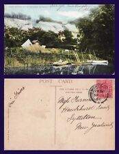UK SUSSEX, THE RIVER AT BURPHAM 1906 TO MISS FURNEAUX, LYTTELTON, NEW ZEALAND