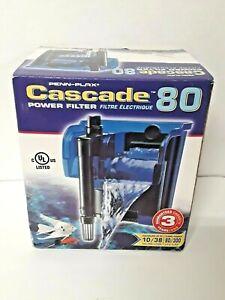 Power Filter Fish Tank Aquarium Penn Plax Cascade 80 gph New