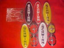 White Black Red Schwinn Stingray bicycle head badge nameplates Emblem  nos oem