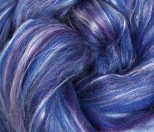 "SILK & MERINO Sliver blend by Ashford NZ ""DAMSON""  for spinning felting 100gms"