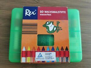 !!!NEU!!! Rex Wachsmalstifte 10 Stück
