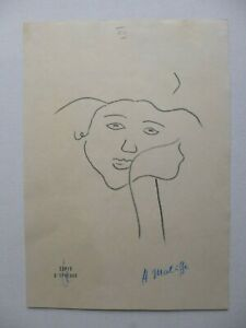 HENRI MATISSE FRENCH PROOF PRINT (GIRL LEANING ON HAND 1934) NO: XII - SIGNED