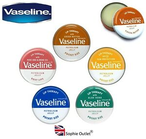 20g VASELINE LIP BALM THERAPY Petroleum Jelly Tinted Heal Dry Chapped Lips Gift