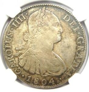 1804-MO TH Mexico Charles IV 8 Reales Coin (8R) - Certified NGC AU55 - Rare!