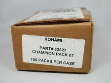 Yugioh Champion Pack Seven 7 CP7 100 Ct Booster Packs New Factory Sealed Case
