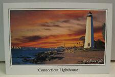 New Haven Lighthouse Connecticut Seaport Postcard