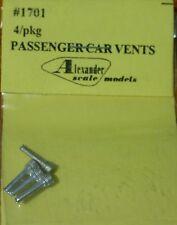 Alexander Scale Models #1701 Pasenger Car Vents (Light Cast Metal) 4 in pkg