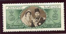 Egypte 1938 King Farouk du 18th Anniversaire de £ 1 Sépia & Green MLH. SG 272. SC 224.