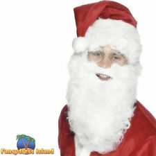Santa Beard Economy White Father Christmas St Nick Mens Fancy Dress Accessory
