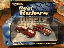 hotwheels real riders 67 camaro and concept set BLACK grille variation