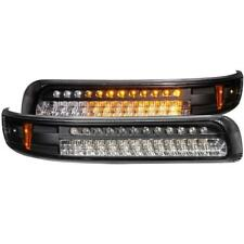 ANZO LED Parking Lights Black w/ Amber Reflector For 2000-2006 TAHOE