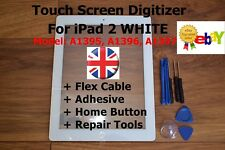 For iPad 2 A1395, A1396, A1397, WHITE Retina Touch Screen Digitizer Replacement