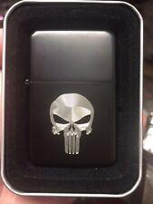 SKULL logo LIGHTER matte BLACK finish with Gift Box NEW The Punisher netflix