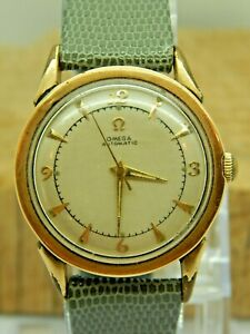 Vintage Omega Bumper Automatic 2597-5 watch Two tone cal 351 17 jewel circa 1951
