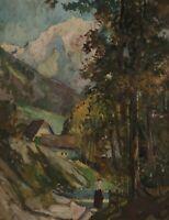 Heinz KLAIBERG 1917 - 1995 - Schwäbisches ? Dorf in den Alpen