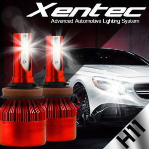 XENTEC LED HID Headlight kit H11 White for 2011-2016 Dodge Grand Caravan