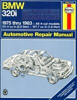 BMW 320i SHOP MANUAL SERVICE REPAIR BOOK HAYNES CHILTON