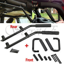 4x Rear & Front Grab Bar Steel Grab Handles For 07-17 Jeep Wrangler JK 2/4 Door