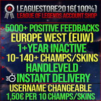 League of Legends Account LOL EUW Smurf Unranked Lvl 30 Iron Gold Platin Skins