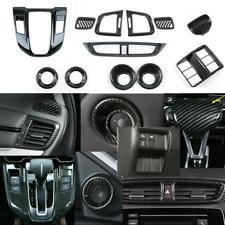 12pcs Carbon Fiber Interior Decoration Trim Cover For Honda CRV CR-V 2017-2020