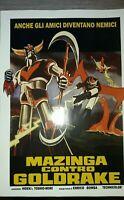 Poster Mazinga contro Goldrake 30  X 45 CM  Repro no vintage perfetto stato