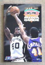 SAN ANTONIO SPURS NBA BASKETBALL MEDIA GUIDE - 1996 1997 - NEAR MINT