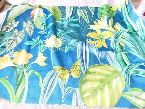 Velvet Tropical Floral Fabric Sample/Remnant, 75 x 55cm