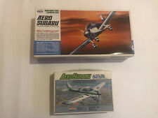 2- Marui Aircraft Series 4 1/36 Aero Subaru Fuji FA-200 Motorized & ARII 1/72 1
