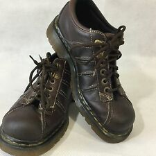 DOC MARTIN DR MARTENS Lace Shoe Oxford Dark Brown Leather 9764 Size 10