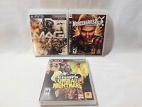 PS3 Video Game Lot of 3: Red Death Redemption, Mercenaries 2, and MAG - Tested!