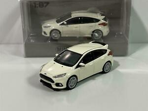 Minichamps 870087204 Ford Focus RS 2018 White 1:87 Scale