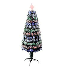 3ft  LED Fibre Optic Christmas Tree with snow effects xmas Decoration Tree