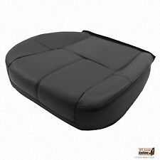 2007 2008 2009 2010 GMC Sierra 2500 Driver Bottom Leather Seat Cover Ebony Black
