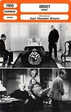 FICHE CINEMA : ORDET - Agesen,Hass Christensen,Dreyer 1955 La Parole/The Word