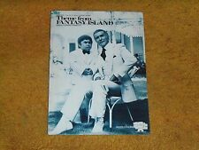 THEME from FANTASY ISLAND sheet music from TV show 1979 4 pages (VG+ shape)
