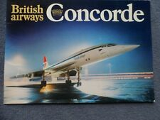 British Airways Concorde Publicity Brochure 1976 Rare